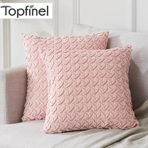 Topfinel miękki aksamit poszewka na poduszkę małymi pliskami dekoracyjne poszewki na poduszki luksusowe plac słodkie dla Sofa łóżko samochód rzuć poszewki na poduszki