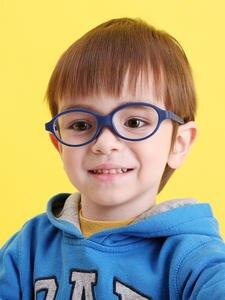 Kids Glasses Frame No-Screw Lenses-Size Children with Plano 47mm Bendable Strap Strap