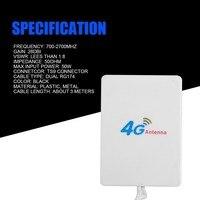 אנטנה עבור 3G 4G LTE אנטנה TS9 Connector 4G LTE נתב Anetnna 3G אנטנה חיצונית עם כבל 3 מטר עבור Huawei 3G 4G LTE נתב מודם (3)