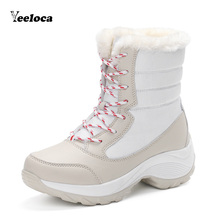 Winter Boots For Women Boots Warm Fur Hiking Climbing Shoes Lace Up Platform Ankle  Waterproof Snow Boots Non-slip Ladies Boots hiking boots women waterproof mouantain shoes winter snow boots for women anti slip outdoor trekking sneakers ladies boots