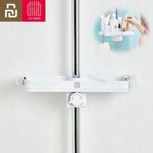 Youpin Dabai แบบพกพาห้องน้ำฝักบัวชั้นวางผ้าขนหนูชั้นแขวนแขวนชั้นวางของ DIY องค์กร Hook