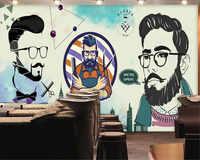 Beibehang wand papier 3d Haar salon sexy schönheit barber shop behang hintergrund tapete papier peint wandbild 3d foto tapete