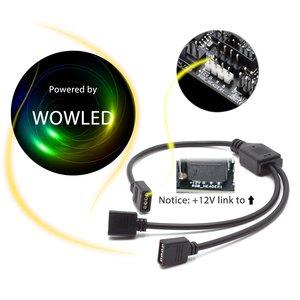 Цветная (RGB игровая клавиатура 5050 Светодиодные ленты светильник цветная (RGB) для детей возрастом от 12V Aura Sync материнская плата Управление ПК компьютер чехол 1M 2M 4 Pin коробка передач-Заголовок (+ 12 V, G, красные/зеленые/голубые/желтые/белые Светоотражающие B)