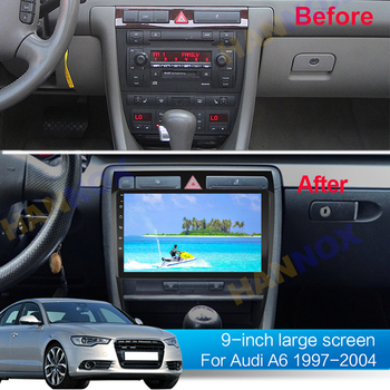 For Audi A6 C5 1997 - 2004 S6 2 1999 - 2004 RS6 1 2002 - 2006 Car Radio Multimedia Video Player Navigation GPS Android10.1 2 din image