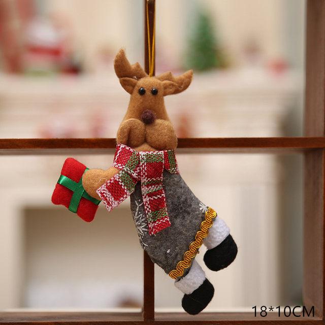 New Year 2020 Cute Santa Claus/Snowman/Angel Christmas Dolls Noel Christmas Tree Decoration for Home Xmas Navidad 2019 Kids Gift 47