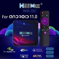 2,4G 5G Wifi H96 Max V11 für-Android 11 TV Box RK3318 16/32/64GB Bluetooth 4,0 für-Google Stimme 4K Smart TV Box