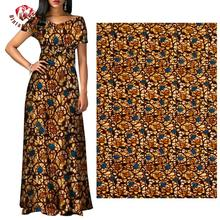 Ankara-Fabric Party-Dress Real-Wax-Print African High-Quality 6-Yards for FP6237
