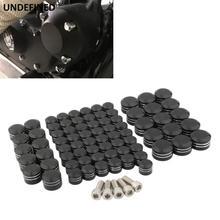 72 peças de reposição parafuso cobre kit motocicleta motor rocker parafuso tampas tappet derby parafusos capa para harley touring flh flt estrada glide