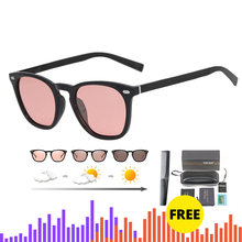 Brand Photochromic Sunglasses Women Luxury Brand Designer Polarized Sunglasses Chameleon Vintage Light adaptive Sunglasses Woman