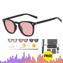 Gafas de sol fotocromáticas de marca para mujer, lentes de sol polarizadas de diseñador de marca de lujo, camaleón Vintage, ligeras y adaptables