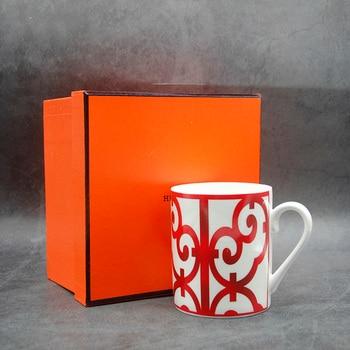 European Style Bone China Coffee mug High Grade Bone China Afternoon Tea Cups Ceramic Mug for Coffee Gift Box Free Shipping beauty products china beauty products china peeling de diamante dermoabrasion white free shipping