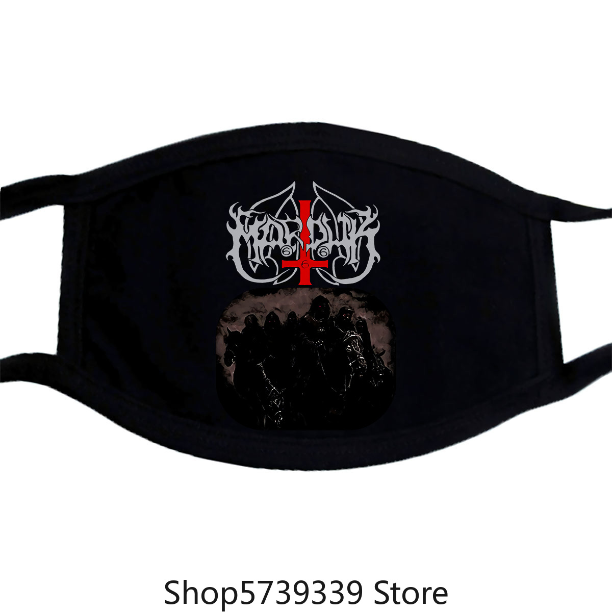 Marduk Those Of The Unlight Mask-New Washable Reusable Mask For Unisex Black