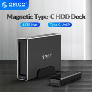 ORICO NS Series 3.5'' Type-C HDD Docking Station Aluminum HDD Enclosure Support UASP Power MAX 16TB Large Capacity HDD Case
