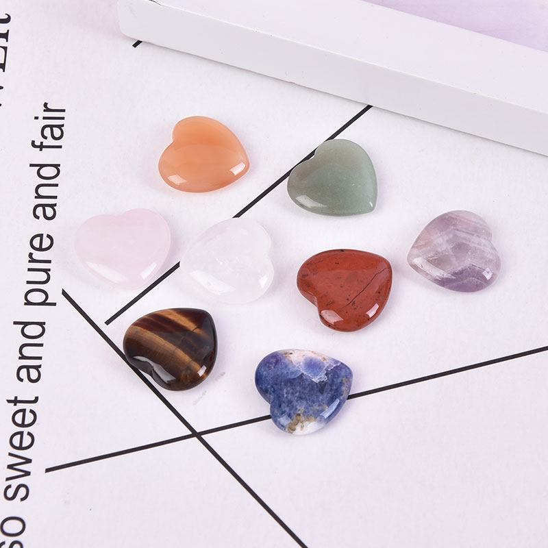 Gift Love Puffy Heart Shaped Stone Love Healing crystal Gemstone Gemstones Natural Rose Quartz Crystals