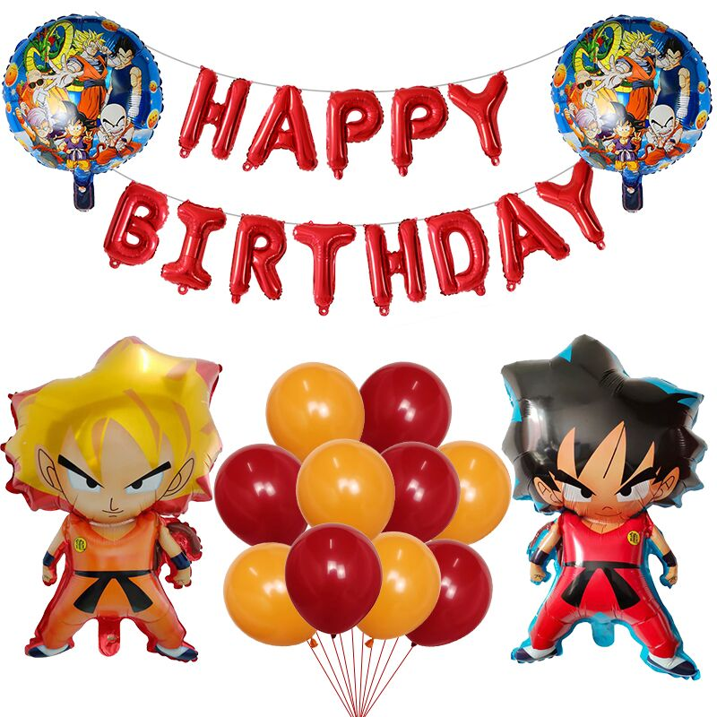 1set cartoon WUKONG Balloon Dragon Air Globos Happy Birthday Party Decoration Kids Toys Super Hero Balloon Children's Toys