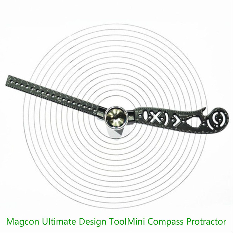 Multifunction Magcon Ultimate Design Tool Mini Compass Protractor Combo-Circles Drawing The Most Versatile And Portable Tool