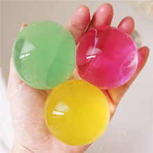 50/100 pçs/lote grande hidrogel pérola em forma de grande 3-4cm contas de água do solo cristal lama crescer bola casamento crescente lâmpadas