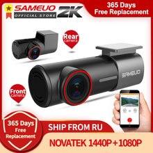 Sameoo U700 Mini ukryty FHD 1080P do deski rozdzielczej samochodu kamera przednia kamera tylna detektor DVR z WiFi FHD wideorejestrator 24H Monitor do parkowania