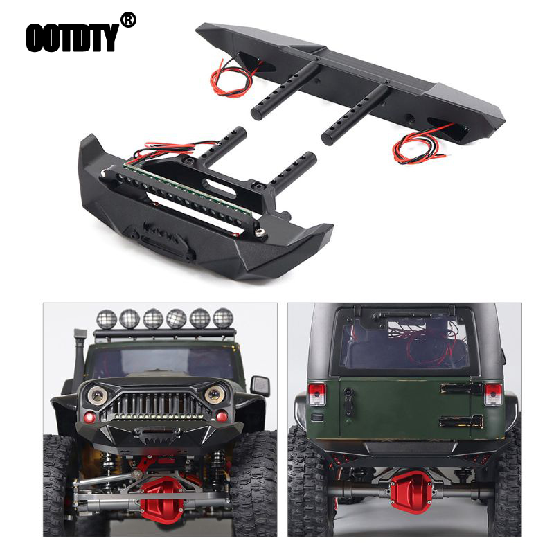 <font><b>RC</b></font> Car Metal Rear Front Bumper Blade for <font><b>1</b></font>/<font><b>10</b></font> Rock Crawler Axial SCX10 90046 TRX4 TF2 <font><b>TAMIYA</b></font> CC01 Rubicon <font><b>Body</b></font> image