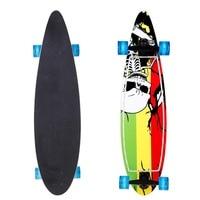 40 inch Skateboard Wood Print Scooter LED Flashing Skateboard Kids Adult Longboards Matte board Skate board with LED flashing