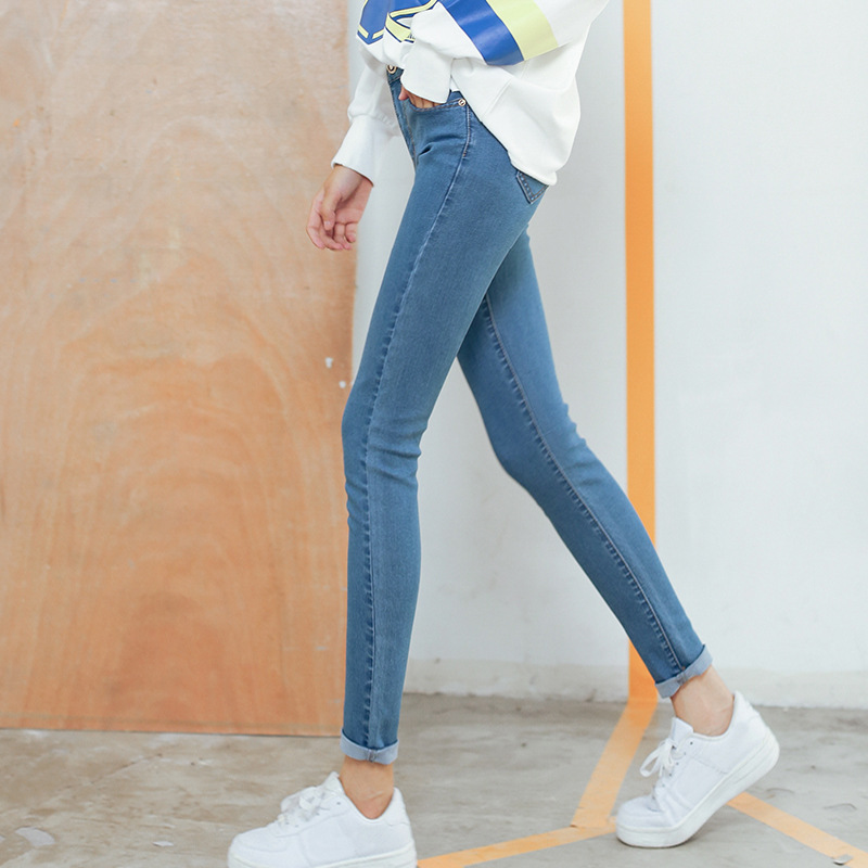 Jeans Women's 2019 Autumn New Style Korean-style Slimming Capri Pants High-waisted Elasticity Slim Fit Skinny Pants Women's Fash