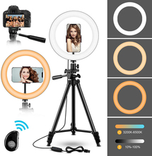 10 Selfie LED Ring Light with Tripod Stand Phone Holder for YouTube Photography Makeup Compatible with