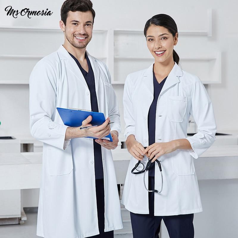High Quality Medical Scrubs Uniforms Hospital Nurse Lab Coat Summer White Pharmacy Clinic Beauty Salon Work Wear Doctor Coat