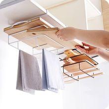 Autre maison cuisine étagère de rangement planche à découper support plat chiffon support placard suspendus étagères fer cuisine organisateur