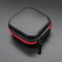 DishyKooker Portable Mini Zipper Square Hard Aseismic Moisture proof Headphone Bag Storage Box Headset Case
