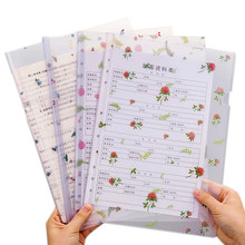 A4 папка для файлов с цветами, папки для отчетов, корешок, бар, зеленые листья, бумага для органайзера, держатель для офиса, школьные принадлежности, ПВХ сумка