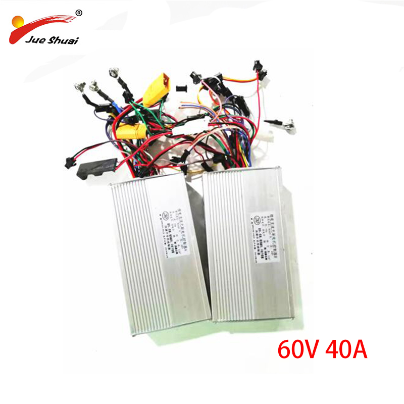 60V 40A Aluminum Alloy Electric Scooter Controller Front Rear DC Controller For 60v Electric Scooter Patinete Eletrico Sale|Electric Scooters| |  - title=