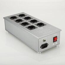 Viborg VE80 HiFi Мощный фильтр, розетка Schuko, 8 полосный Кондиционер переменного тока, аудиофиловый очиститель питания с розетками ЕС