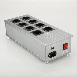 Viborg VE80 Hifi Vermogen Filter Plant Schuko Socket 8 Manieren Ac Power Conditioner Audiophile Power Purifier Met Eu Outlets