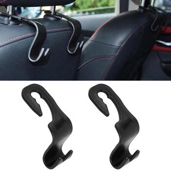 20kg Load-Bearing Black Universal Car Seat Back Hooks Car Accessories Portable Hanger Holder Storage Auto Car Hooks Car styling image