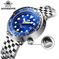 Addies Dive Men's Automatic Watch NH35A Sapphire Crystal Ceramic bezel BGW9 Luminous 30bar steel Tuna diver Men watch watches
