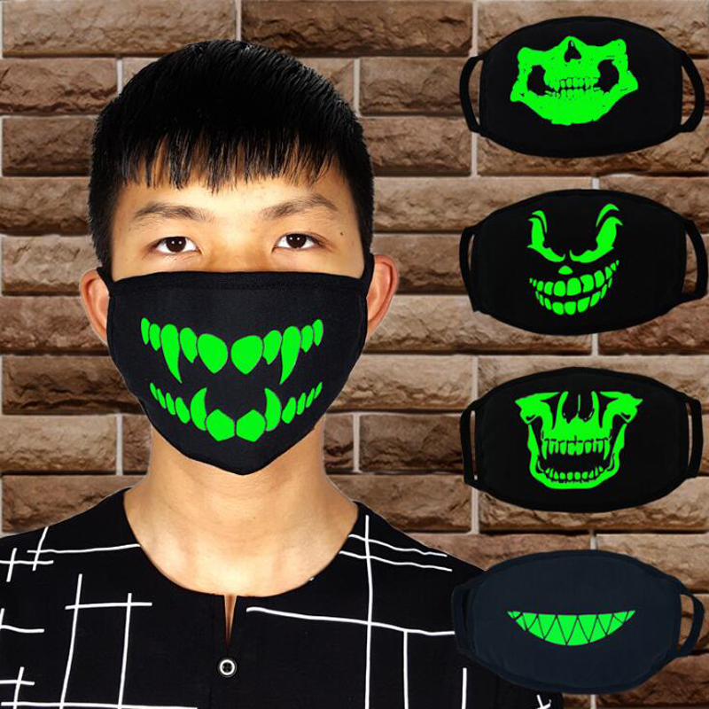 New Green Luminous Masks Halloween Cold And Breathable Personality Masks For Men And Women