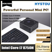 Súper mini pc Core i7 8750H 4K HD 3D Blu Ray Windows 10 Xeon cliente NVME SSD Linux de escritorio Core i5 i9 8950H computadora de juegos(China)
