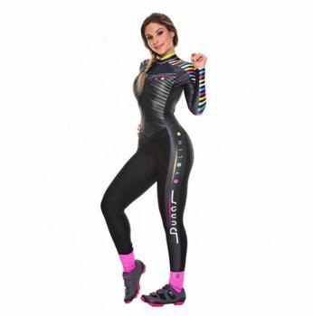 2020 pro equipe triathlon terno feminino ciclismo manga longa jérsei skinsuit macacão maillot ciclismo ropa ciclismo conjunto gel .. 1