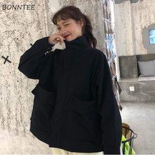 Chaquetas básicas de mujer estilo BF carga Harajuku elegante diseño de la Universidad adolescentes prendas de vestir chaqueta de Moda de Primavera de todo-Partido damas Streetwear