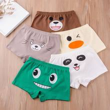 2pc Children Underwear Boys 100% Cotton Boxer Style Young Panties Small Kids Underpants Big Boy Shorts Teenage Cartoon Print(China)
