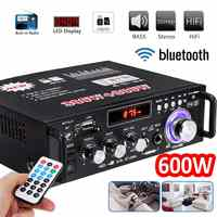 600W Home Amplifiers Audio bluetooth Amplifier Subwoofer Remote Noise reduction Home Theater Amplifiers Support FM USB SD Card