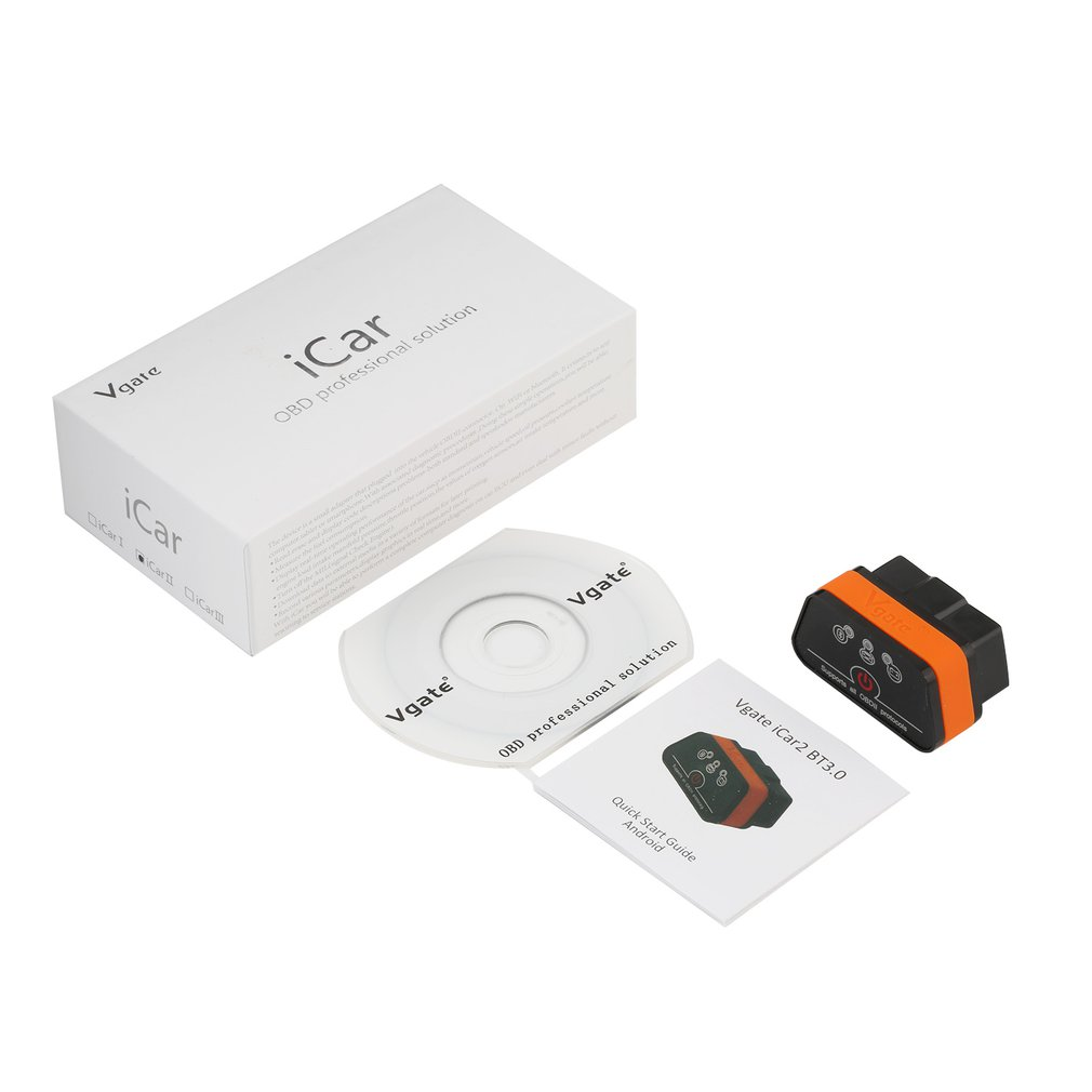 Vgate ICar2 Code Reader Available Auto OBDII Vgate ICar 2 Type Small Adapter With 6 Colors