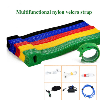 50pcs Nylon Releasable Cable Ties Coloful Plastics Reusable Cable ties  Loop Wrap Zip Bundle Ties T-type Velcro Cable Tie Wire 100pcs white self locking cable tie high quality nylon fasten zip wire wrap strap 2 5x100mm 2 5x150mm plastic