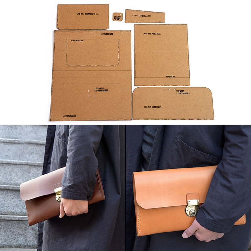 1 Set Of Hard Kraft Paper Stencil Template For Ladies Casual Clutch Wallet Sewing Pattern 29cm*16cm*4cm