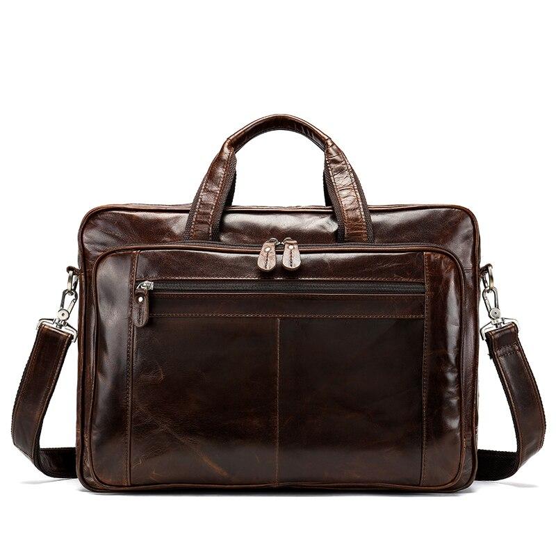 WESTAL sac pour hommes/porte-documents en cuir pochette d'ordinateur pour hommes en cuir véritable sac de bureau pour document voyage d'affaires sacs de voyage 7320 - 2