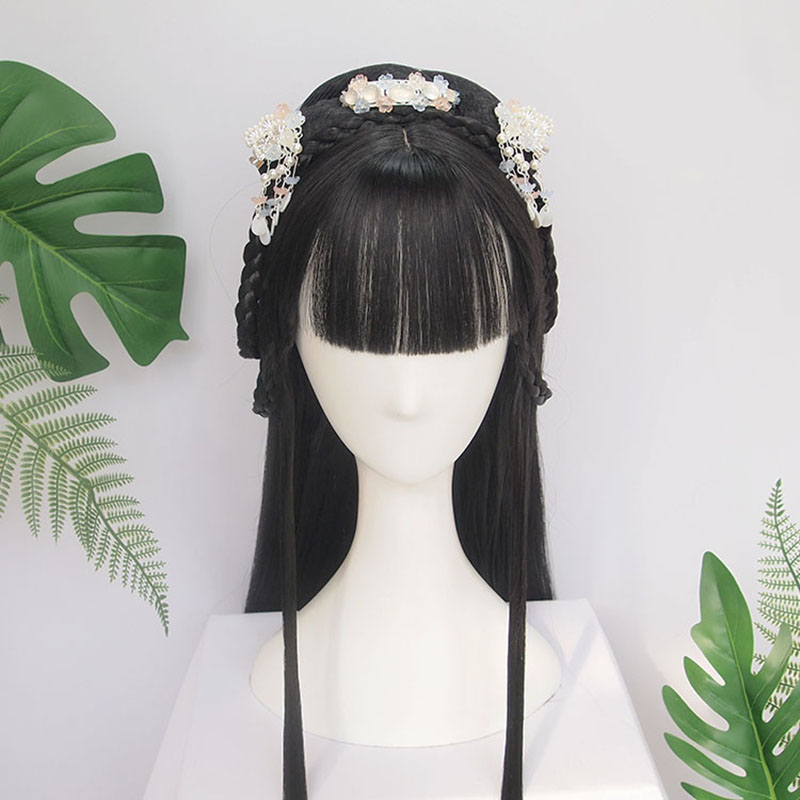 WEILAI Traditional Chinese Wigs Ancient Aristocratic Women Cos Wig Headgear Customization Of The Whole Braided Wig