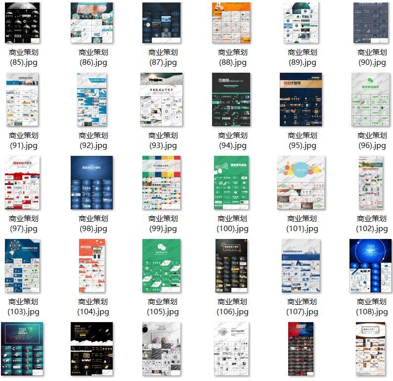 130套高层商业计划书PPT