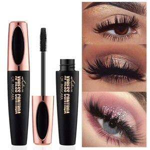 Image 4 - 4D Silk fibre tusz do rzęs wodoodporny do kosmetyków makijaż przedłużanie rzęs czarny gruby wydłużenie Curling Eye Lashes 1 sztuk