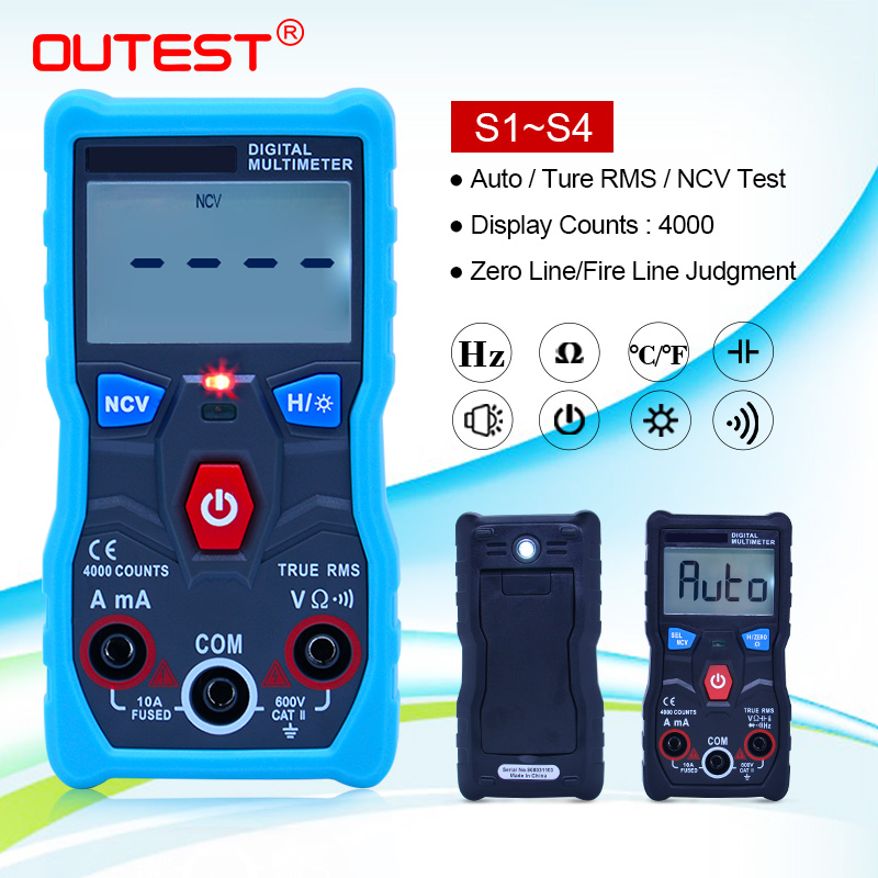 ZOYI ZT-S1/ZT-S2/ZT-S3/ZT-S4 4000 counts Auto Range True RMS LCD Digital Multimeter With NCV DATA HOLD and LCD backlight+EVA box title=