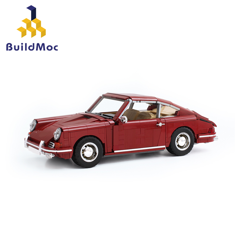 BuildMoc Racers Supercar Scale Famous Brand Classic 911 Sports Car Fit 42056 Technic Vehicles Building Blocks Bricks Toys Gift